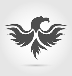 abstract label eagle silhouette vector image