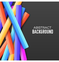 Abstract rainbow banner form background concept vector image