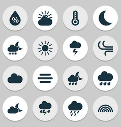 Air icons set collection of nightly colors vector