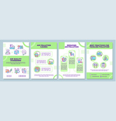 Air quality standards brochure template vector