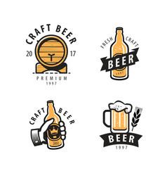 beer symbol or logo pub restaurant drink vector image