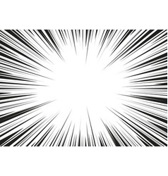 black and white zoom line comic background vector image