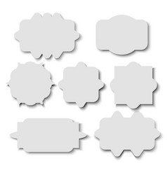 Blank sticker template over white background vector