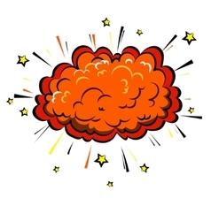 Boom cloud of Comic Pop Art style vector