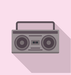 Boombox icon flat style vector