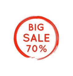 bright red round retro big sale badge on white vector image