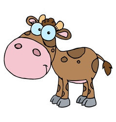 Brown Calf With Spots vector image