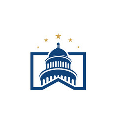 Capitol icon vector