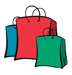 Clipart paper bags in three different vector