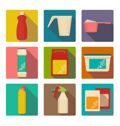 detergent scoop in plastic containers isolated vector image