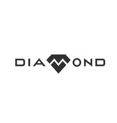 diamond logo design monochrome black vector image