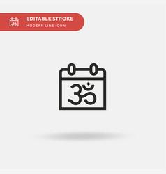 diwali simple icon symbol vector image