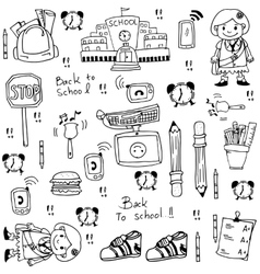 Doodle of school tools vector