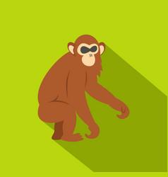 Dusky leaf monkey icon flat style vector