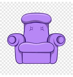 easy armchair icon cartoon style vector image