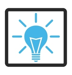 Electric Light Framed Icon vector