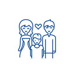 family with child line icon concept family with vector image