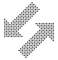 Fine dotted black arrows vector