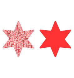 Fireworks star mosaic of binary digits vector