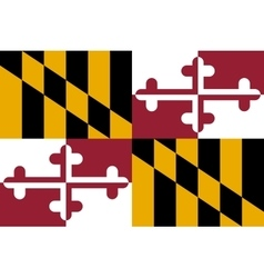 Flag of Maryland correct proportions and colors vector