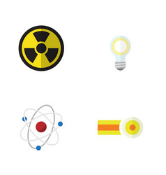 flat icon science set of orbit irradiation vector image