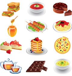 food different vector image