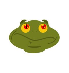 frog surprised emoji toad avatar astonished vector image