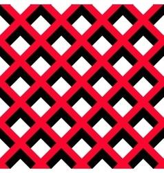 Geometric Red Black White Pattern vector
