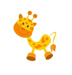 Giraffe baby toy vector