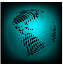 globe earth world map - abstract dotted vector image