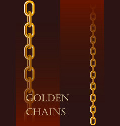 Gold chains different sizes vector
