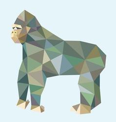 Gorilla low polygon style vector