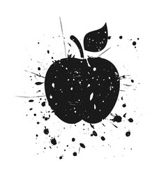 grunge apple vector image