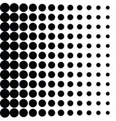 halftone black dots on white background vector image