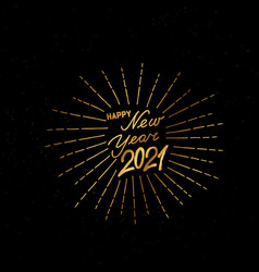 happy new year black noise background winter vector image