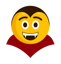 happy vampire emoji icon vector image