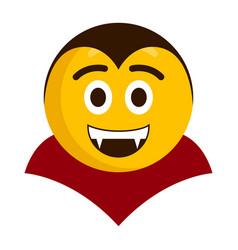 happy vampire emoji icon vector image