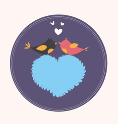 Hearts and Birds vector