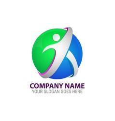 Human Technology Logo Template vector image