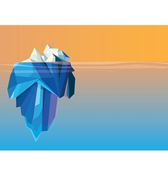 Iceberg low polygon design vector