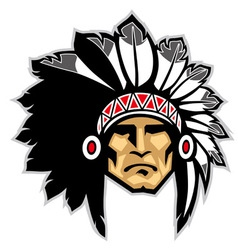 indian head mascot vector image