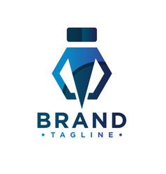 industrial business logo letter i vector image