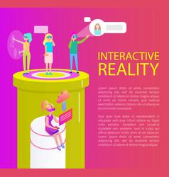 Interactive reality items set vector