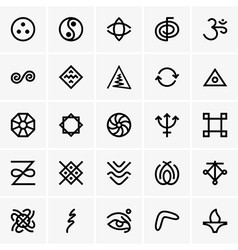 Karma icons vector