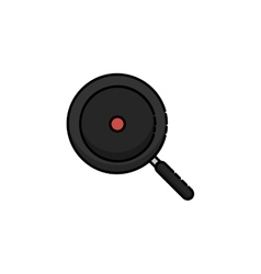 Kitchen flat icon Pan vector