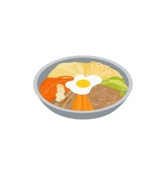 Korean food icon isometric 3d style vector