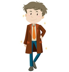 Man wearing new coat vector