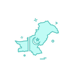 Map pakistan icon vector