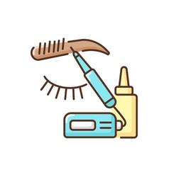 Microblading rgb color icon vector