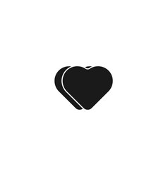 minimalist black love icon logo inspiration vector image